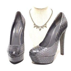 SERGIO ROSSI platform python heels stiletto